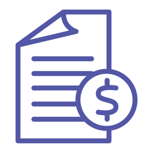 Budget Friendly website design logo showing a paper and dollar sign